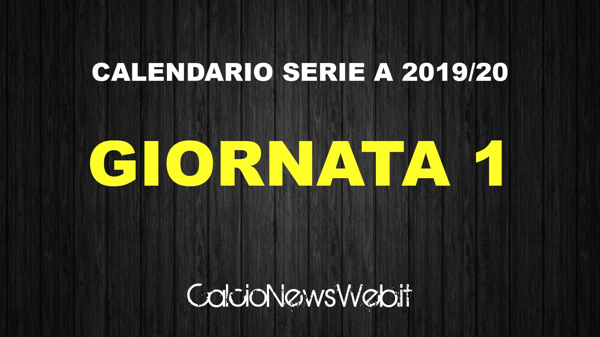 Calendario Serie A Ecco Le Partite Della Prima Giornata Calcionewsweb It