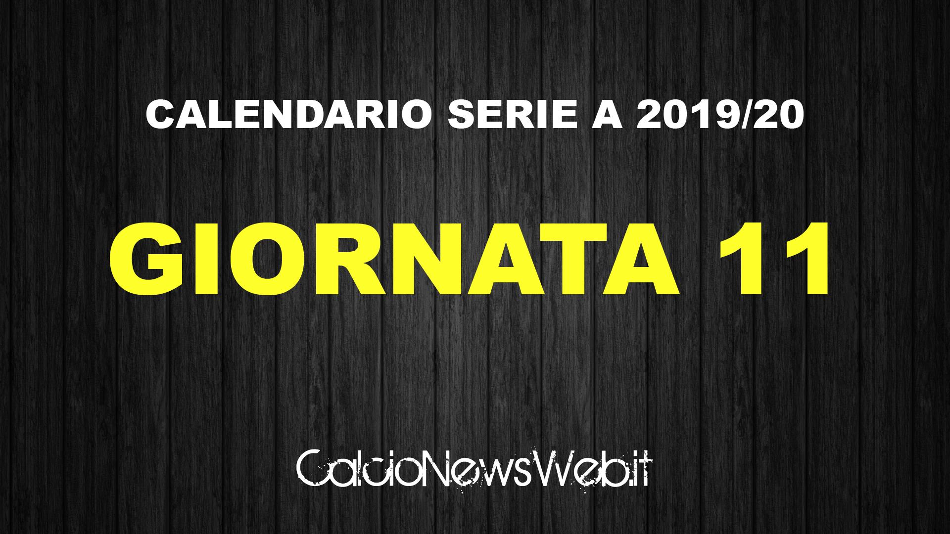 Calendario Serie A 11 Giornata.Calendario Serie A Ecco Le Partite Dell Undicesima