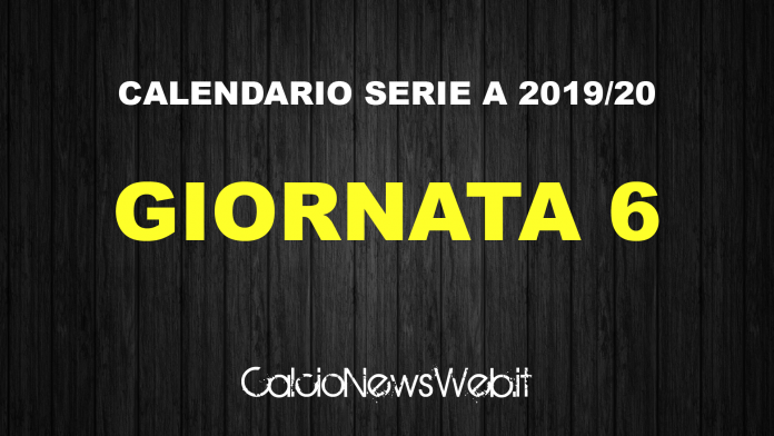 Serie A Calendario 6 Giornata.Calendario Serie A Ecco Le Partite Della Sesta Giornata