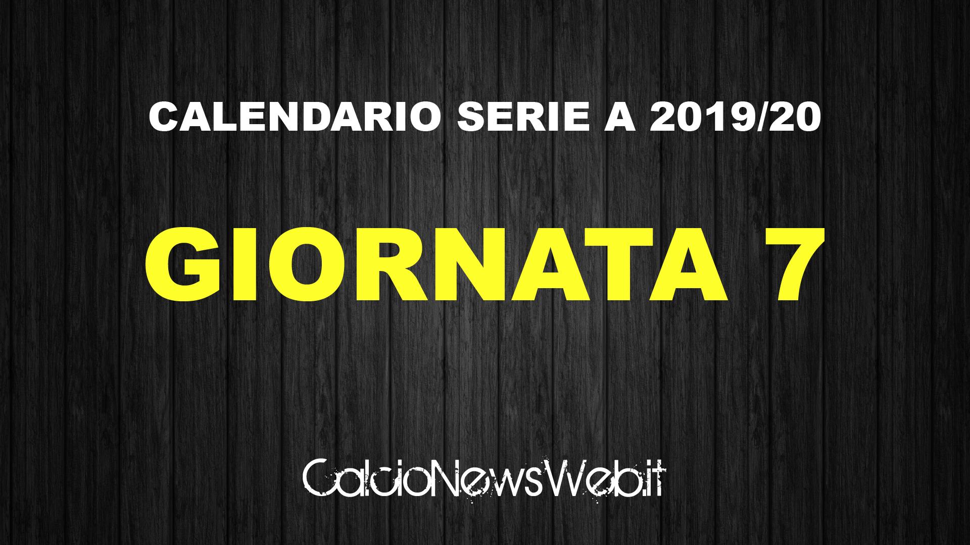 Serie A Calendario 7 Giornata.Calendario Serie A Ecco Le Partite Della Settima Giornata