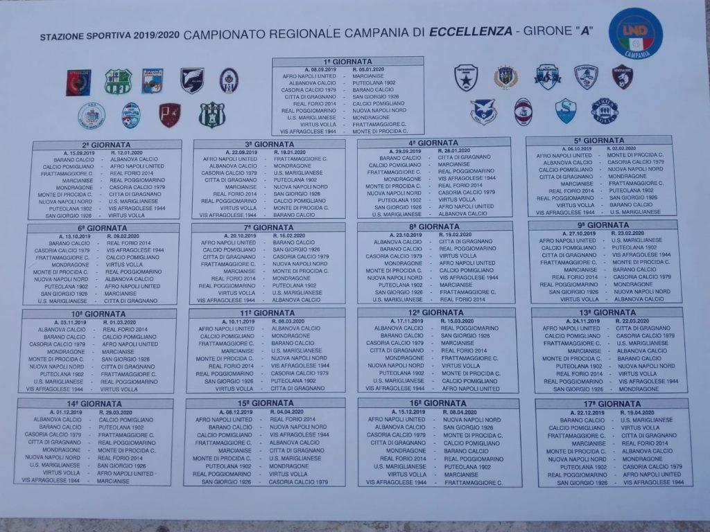 Calendario Del 1979.Eccellenza Campana Il Calendario Completo Del Girone A