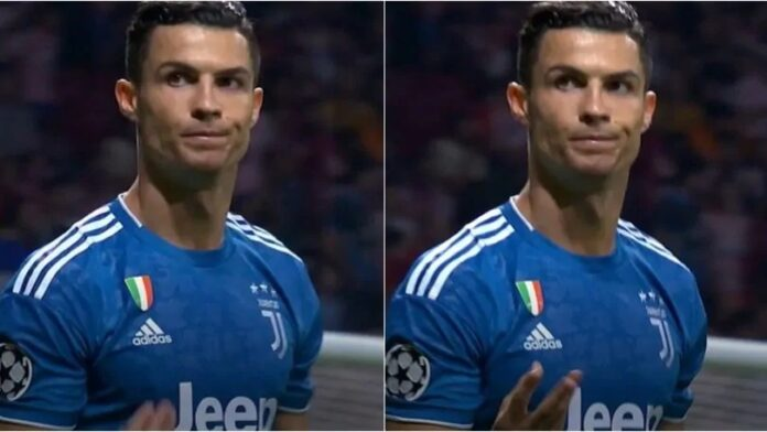 JUVENTUS - Cristiano Ronaldo e il gesto contro l'Atletico Madrid: